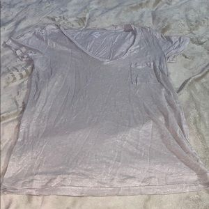 Jcrew shimmery tee shirt with pocket